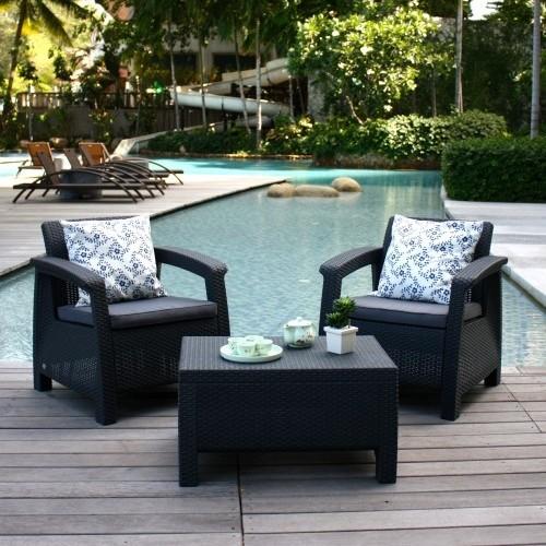 Комплект мебели для балкона keter corfu balcony set.